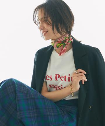 La boutique BonBon(ラブティックボンボン) 【別注・洗える】Les Petits Basics ロゴTシャツ Red