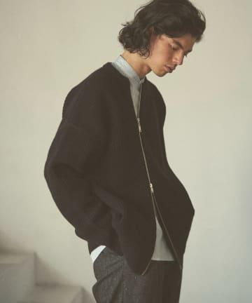 Lui's(ルイス) 【CLANE HOMME Exclusive】 Zip Knit Blouson