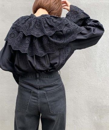 CIAOPANIC TYPY(チャオパニックティピー) indiaつけ衿付きダブルカラーブラウス