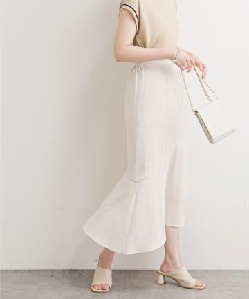 natural couture(ナチュラルクチュール) 【WEB限定】ハギデザインマーメイドスカート