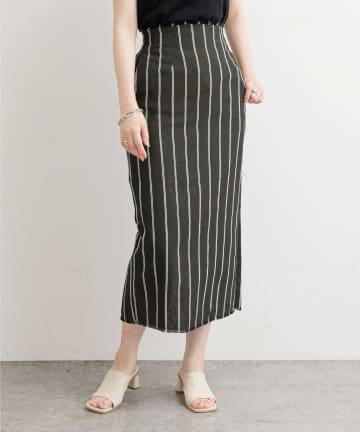 natural couture(ナチュラルクチュール) 綿麻フリンジナロースカート