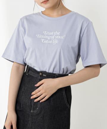 OLIVE des OLIVE(オリーブ デ オリーブ) カラーロゴTシャツ