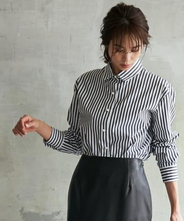 La boutique BonBon(ラブティックボンボン) 《予約》【手洗い可】ブロードストライプシャツ
