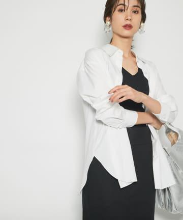 La boutique BonBon(ラブティックボンボン) 《予約》【手洗い可】パールボタンブロードシャツ