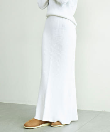 GALLARDAGALANTE(ガリャルダガランテ) ワッフルニットスカート