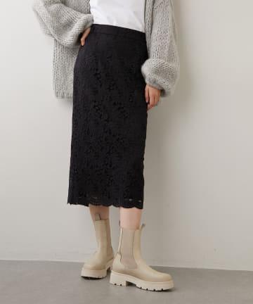 Whim Gazette(ウィム ガゼット) レースタイトスカート