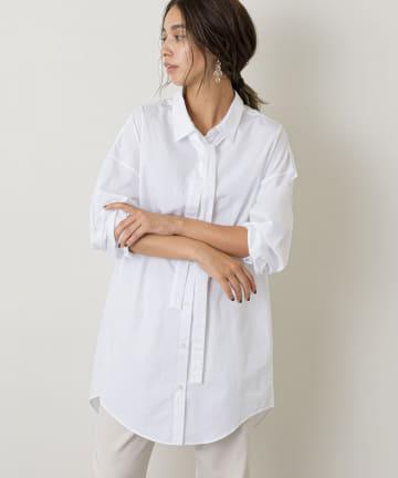 Whim Gazette(ウィム ガゼット) タイ付きシャツ