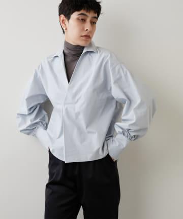 Whim Gazette(ウィム ガゼット) タイプライタースキッパーシャツ