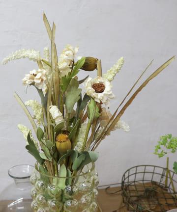 salut!(サリュ) 【花のある暮らし】フェイクドライフラワー(ホワイト)