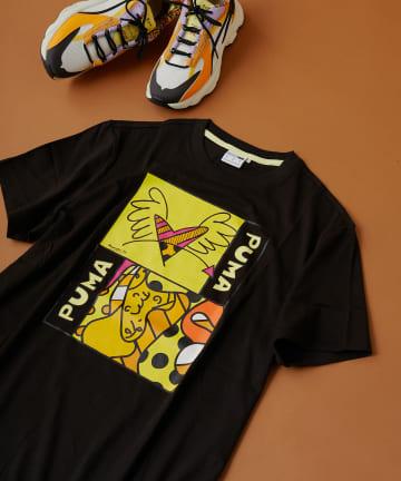 ear PAPILLONNER(イア パピヨネ) 【PUMA x BRITTO】 グラフィックTシャツ