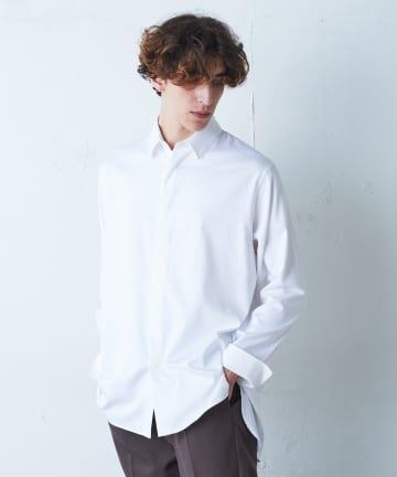 Lui's(ルイス) バンブーレーヨンサテンダブルカフスシャツ