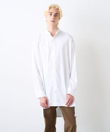 Lui's(ルイス) バンブーレーヨンサテンビッグシルエットスリットシャツ