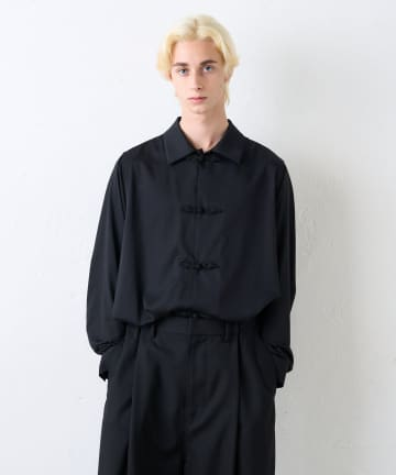 Lui's(ルイス) バンブーレーヨンサテンチャイナシャツ