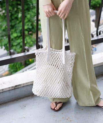 Kastane(カスタネ) 巾着付きマクラメトートBAG