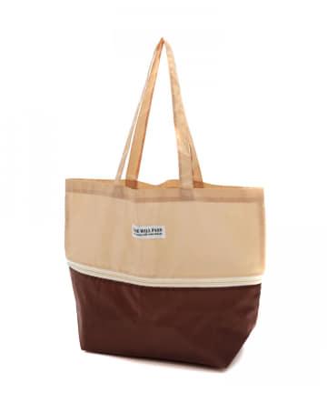 3COINS(スリーコインズ) 【目的に合わせて機能いろいろ】たて拡張ショッピングバッグ