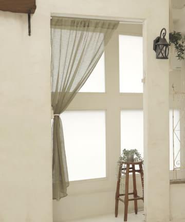 3COINS(スリーコインズ) 麻風スタイルカーテン
