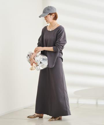 DOUDOU(ドゥドゥ) ワンマイル ミニ裏毛セットアップ スカート+プルオーバー