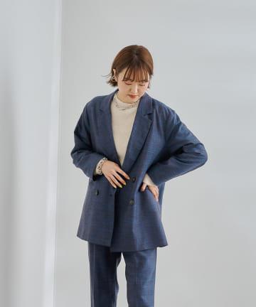 DOUDOU(ドゥドゥ) ミックスツイードジャケット