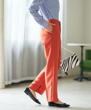 La boutique BonBon(ラブティックボンボン) 【スタイリングアクセントに持ちたい】カラーストレートインスリットパンツ