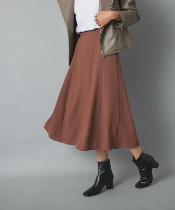 RIVE DROITE(リヴドロワ) 【フレアシルエットが美しい】ソフトツイルハギフレアースカート