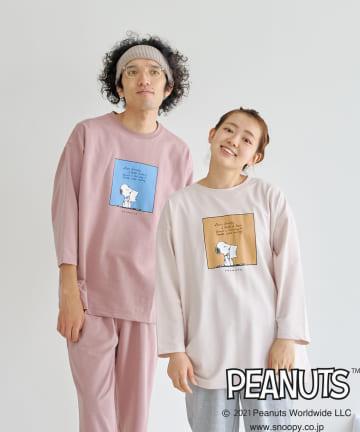 CPCM(シーピーシーエム) 【PEANUTS / ピーナッツ 】8分袖セットアップ ルームウェア
