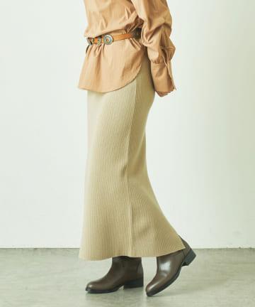 LIVETART(リヴェタート) 《sure feel》圧縮リブニットスカート