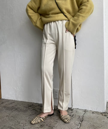CAPRICIEUX LE'MAGE(カプリシュレマージュ) 裾ジッパーセンプレパンツ