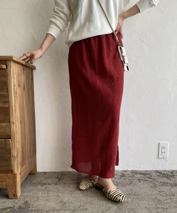 CAPRICIEUX LE'MAGE(カプリシュレマージュ) シャーリングIラインスカート