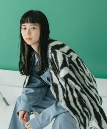 Kastane(カスタネ) 【WHIMSIC】ANIMAL SHAGGY KNIT CARDIGAN