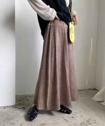 CAPRICIEUX LE'MAGE(カプリシュレマージュ) モザイクピーチタッチフレアスカート