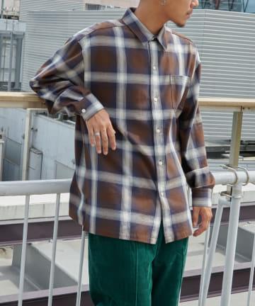 Discoat(ディスコート) オンブレチェックビッグシャツ