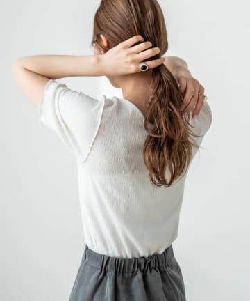 OUTLET(アウトレット) 【mystic】カットジャガードメロウTシャツ