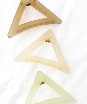 3COINS(スリーコインズ) 【ASOKO】三角ヘアクリップ