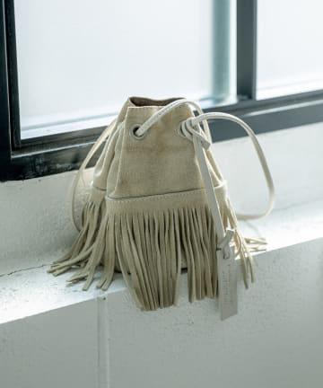 La boutique BonBon(ラブティックボンボン) 《予約》【MARCO MASI 】フリンジプチスエードバッグ