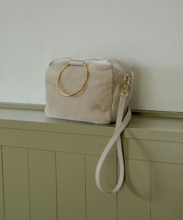 La boutique BonBon(ラブティックボンボン) 【COZスタイル・MARCO MASI】ムートンリングハンドルバッグ