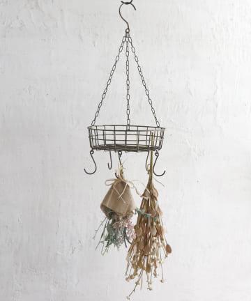 salut!(サリュ) 【花のある暮らし】ハンギングワイヤーバスケット