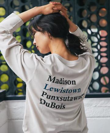 RIVE DROITE(リヴドロワ) 【モードに着られる大人のロンT】バックロゴロングスリーブTシャツ