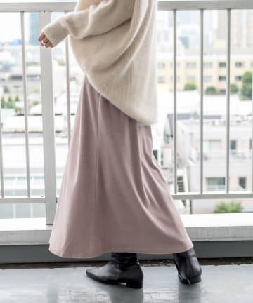RIVE DROITE(リヴドロワ) 【気軽にフェミニンなムードをプラス】コンパクトベロアスカート