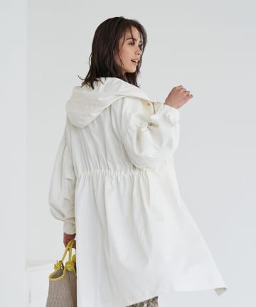 La boutique BonBon(ラブティックボンボン) 【COZスタイル・洗える】オーバーサイズモッズコート