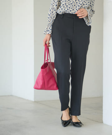 La boutique BonBon(ラブティックボンボン) 《予約》【COZスタイル・センタープレスで上品】ドライツイードストレートパンツ