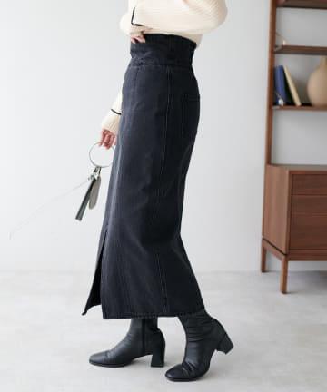 Discoat(ディスコート) USコットンデニムZIPナロースカート