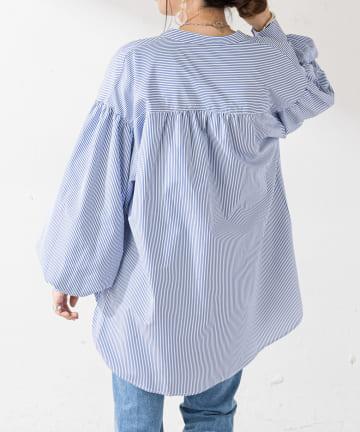 Discoat(ディスコート) 【WEB限定】ストライプシャツ