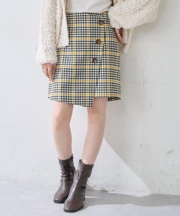 Discoat(ディスコート) チェックキュロットスカート