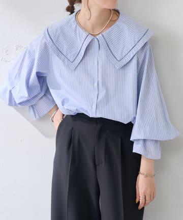 Discoat(ディスコート) ブロードビッグカラーシャツ