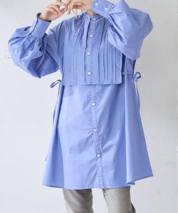 Discoat(ディスコート) ブロードベスト付チュニックシャツ