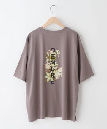 OLIVE des OLIVE OUTLET(オリーブ・デ・オリーブ アウトレット) 【dsf】Flower Logo T-shirt