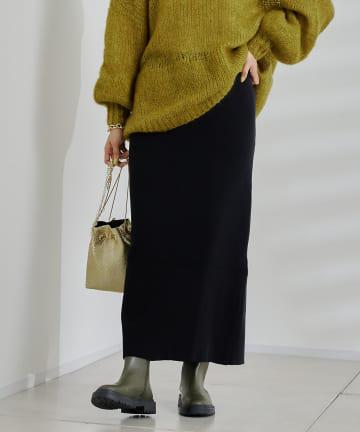 DOUDOU(ドゥドゥ) リブニットスカート