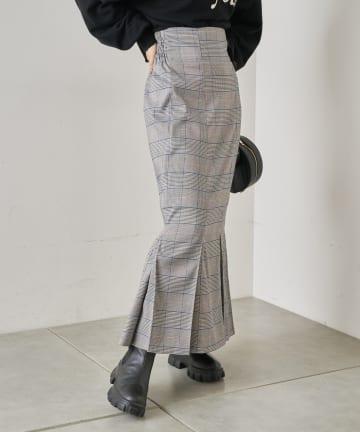 who's who Chico(フーズフーチコ) グレンチェックマーメイドタイトスカート