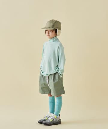 BONbazaar(ボンバザール) 《キッズ》【MOUN TEN.】ボトルネックロングTシャツ