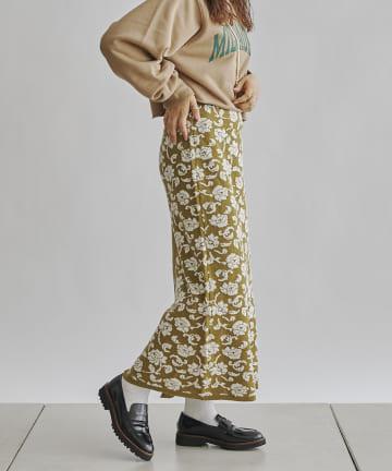 CPCM(シーピーシーエム) 前後2way花柄JQニットスカート